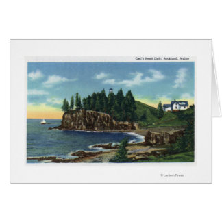 View of the Owl's Head Lighthouse Greeting Card