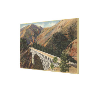 View of the Pacific Hwy Bridge over Shasta Canvas Print