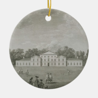 View of the Palace at Kew from the Lawn, engraved Christmas Ornament