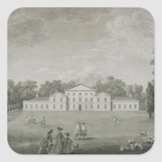 View of the Palace at Kew from the Lawn, engraved Square Sticker