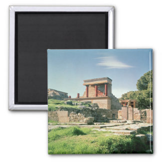 View of the Palace of Knossos Fridge Magnet