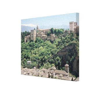 View of the Palace of the Alhambra Canvas Print