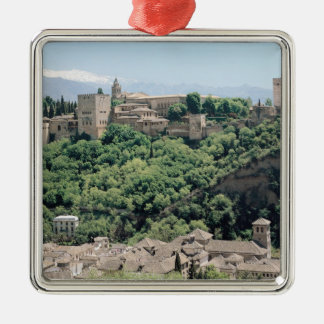 View of the Palace of the Alhambra Christmas Ornament