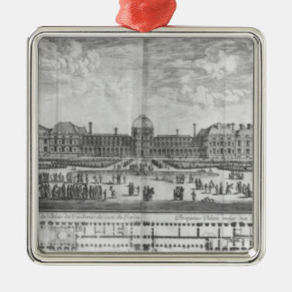 View of the Palais des Tuileries from gardens Christmas Ornament