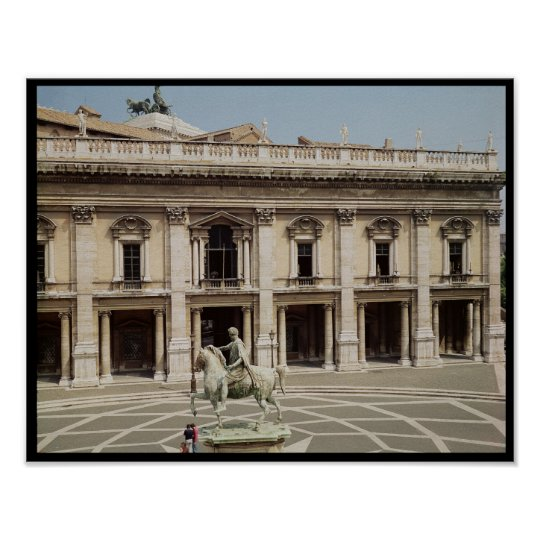 View of the Palazzo Nuovo Poster