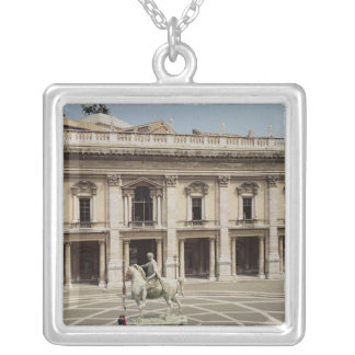 View of the Palazzo Nuovo Silver Plated Necklace