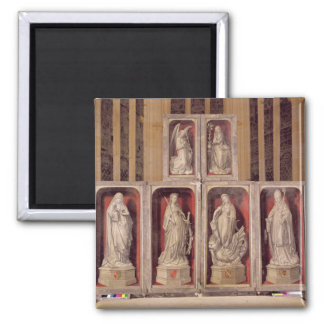 View of the panels of the closed altarpiece square magnet