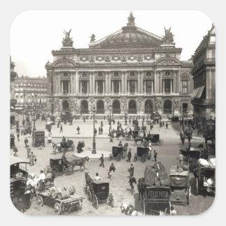 View of the Paris Opera House, 1890-99 Square Sticker