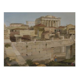 View of the Parthenon from the Propylaea, plate 7 Postcard