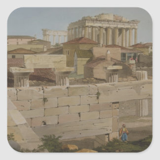 View of the Parthenon from the Propylaea, plate 7 Stickers