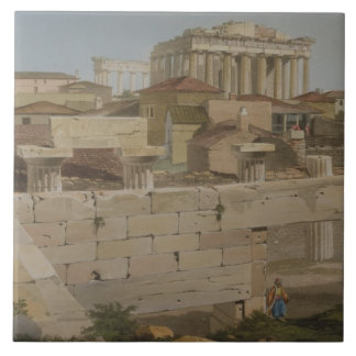 View of the Parthenon from the Propylaea, plate 7 Ceramic Tiles