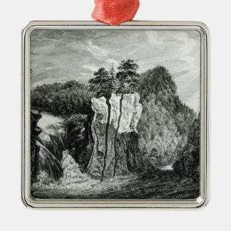 View of the Passaic River Waterfall, New Jersey Christmas Ornament