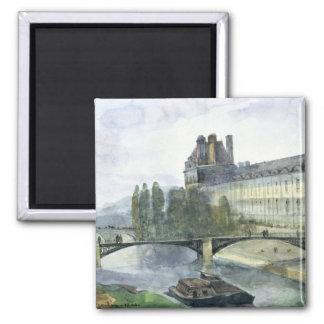 View of the Pavillon de Flore of the Louvre Square Magnet