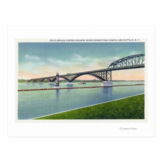 View of the Peace Bridge over Niagara River Postcard