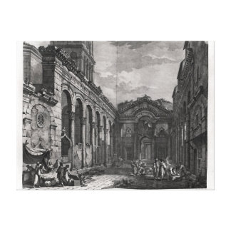 View of the peristyle of the palace of canvas print