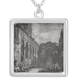 View of the peristyle of the palace of silver plated necklace