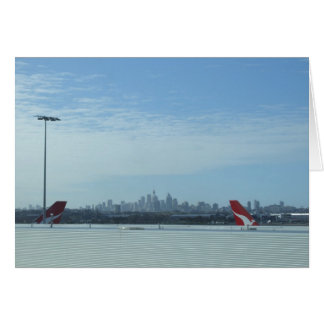 View Of The Perth City From Airport Card