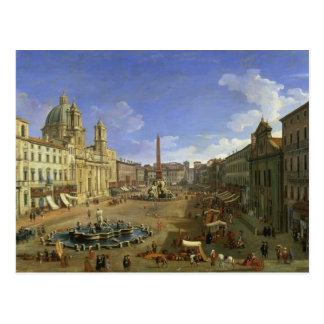 View of the Piazza Navona, Rome Postcard