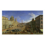 View of the Piazza Navona, Rome Poster