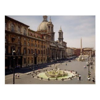 View of the piazza post card