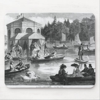 View of the pond of the Court at Fontainebleau Mouse Mat