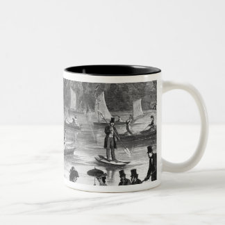 View of the pond of the Court at Fontainebleau Two-Tone Coffee Mug