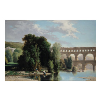 View of the Pont du Gard, 1859 Poster