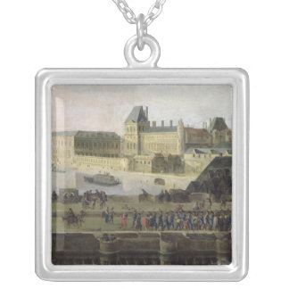 View of the Pont-Neuf and the River Seine Silver Plated Necklace