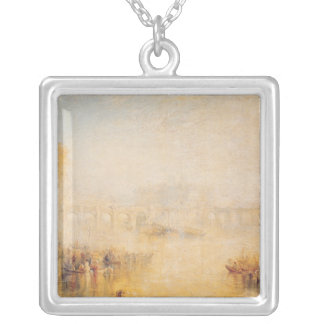 View of the Pont Neuf, Paris Silver Plated Necklace