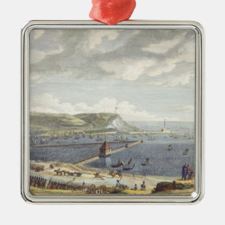 View of the Port and the Roadstead of Boulogne at Christmas Ornament