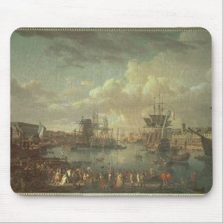 View of the Port at Brest Mouse Mat