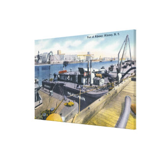 View of the Port of Albany, SS Iroquois in Canvas Print
