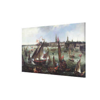View of the Port of Antwerp Canvas Print