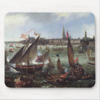View of the Port of Antwerp Mouse Mat