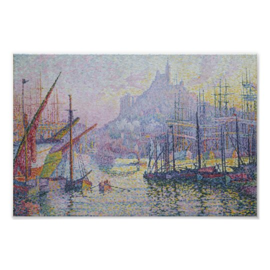 View of the Port of Marseilles by Paul Signac Poster