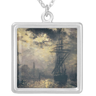 View of the Port, or The Windmills in Silver Plated Necklace
