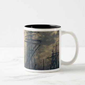 View of the Port, or The Windmills in Two-Tone Coffee Mug