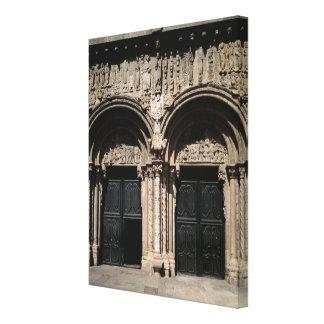 View of the Portico de las Platerias Canvas Print