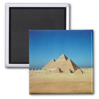 View of the Pyramids Square Magnet