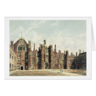 View of the Quadrangle at Hampton Court Palace fro Card