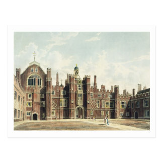 View of the Quadrangle at Hampton Court Palace fro Postcard