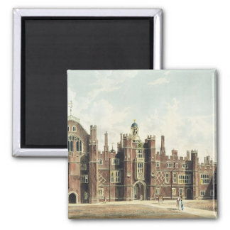 View of the Quadrangle at Hampton Court Palace fro Square Magnet