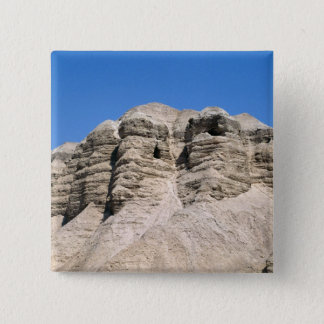 View of the Qumran Caves 15 Cm Square Badge