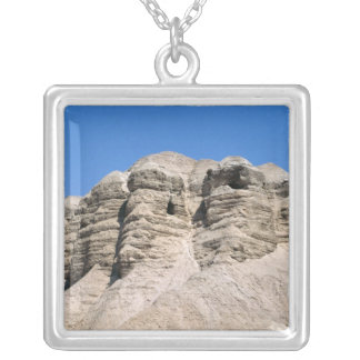 View of the Qumran Caves Silver Plated Necklace