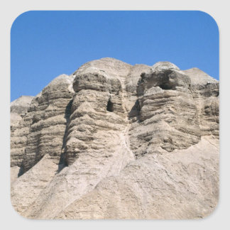 View of the Qumran Caves Square Sticker