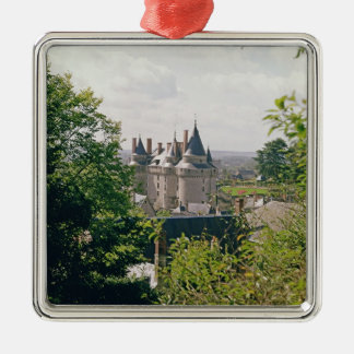 View of the restored chateau from the north christmas ornament