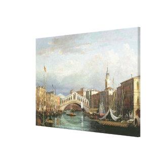 View of the Rialto Bridge in Venice Canvas Print