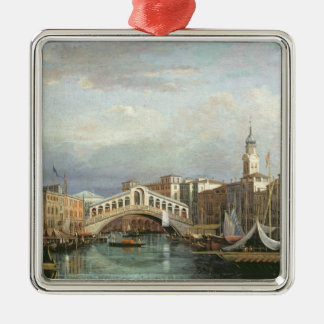View of the Rialto Bridge in Venice Christmas Ornament