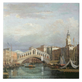 View of the Rialto Bridge in Venice Tile