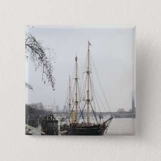 View of the River Thames with RRS Discovery 15 Cm Square Badge
